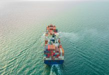 cargo ship carrying container for business import and export logistic supply chain,sea freight